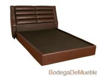 Base para Cama color caoba con diseño que brindara sensación de confort a tu habitación.