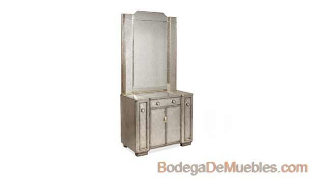 Tocador para Recamara, hermoso diseño moderno de color plata, perfecto para brindarle personalidad a tu recámara.