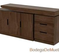 Mueble Bufetera de Madera contemporáneo con muchos detalles y acabado fino.