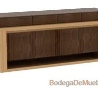 Mueble Bufetera para Comedor bicolor fabricado con madera de fresno.