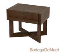 Hermoso Buró para Recámara de madera de olmo con patas cruzadas y detalles contemporáneos.