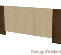 Cabecera para Cama king size de madera de fresno y tela o piel del color de su elección.