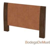 Cabecera para Cama alta muy elegante por su detalle en piel y perfecto acabado de madera de encino.