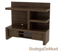 Centro de Entretenimiento de Madera muy util y adaptable a cualquier diseño de interiores.