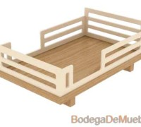 Hermosa Cuna de Madera de fresno perfecta para dar ese toque de calor que proporciona la madera.