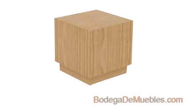 """Mesa Lateral color cerezo que hace juego con la mesa de centro """"Ambar"""""""