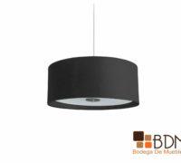 Lámpara circular colgante, lámpara de techo, lámpara negra