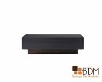 mesa de centro con cajones, mesa minimalista, mesa de centro negra, multifuncional
