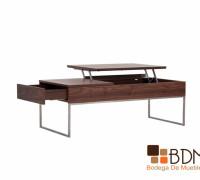 multifuncional mesa de centro, mesa de madera, mesa de centro con compartimientos