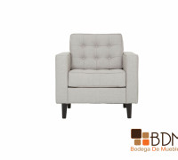 sofa individual blanco -cómodo - clásico - contemporáneo