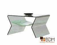 mesa lateral de cristal - mesas para sala