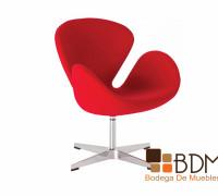 sillón individual rojo
