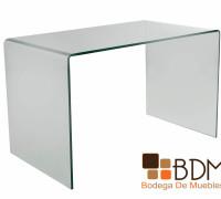 escritorio minimalista de cristal
