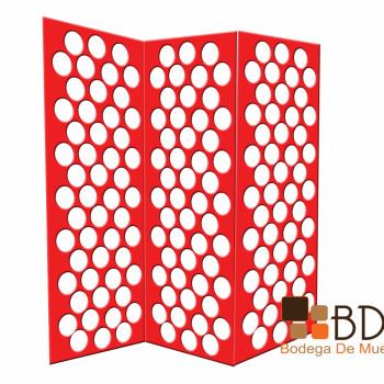 Biombo con Círculos Shield Red