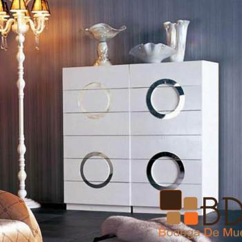 Cómoda en Color Blanco con Círculos Furniture