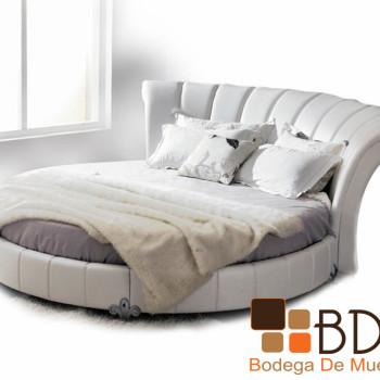 Cama Circular Color Blanco Furniture