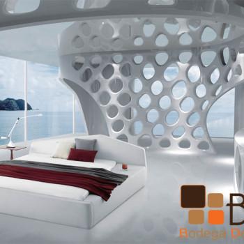 Recámara Blanca Ultra Vanguardista Furniture