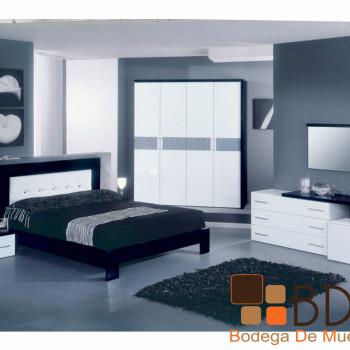 Recámara Blanco y Negro Furniture