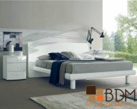 Recámara Confortable en Color Blanco Furniture Bam