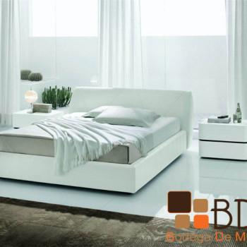 Recámara Elegante en Color Blanco Furniture