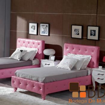 Recámara Tapizada en Rosa Furniture