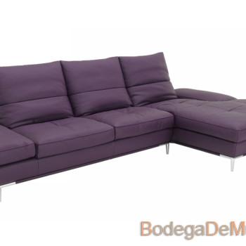 Sofa esquinero moderno y elegante de piel Deep