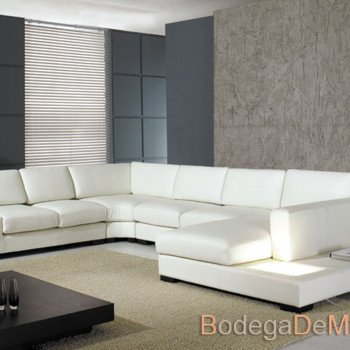 Sala de Piel Completa Moderna Color Blanco
