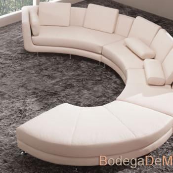 Sala de Piel Moderna en Forma Circular