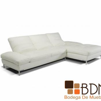 Sala de Piel Versátil en Color Blanco Dumont