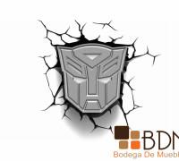 Lámparas infantiles Transformers