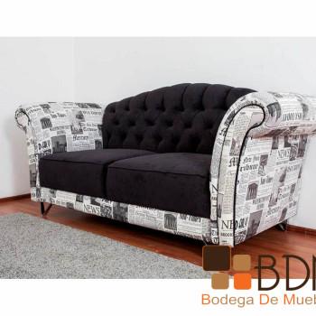 Sofá moderno capitoneado Bendersky
