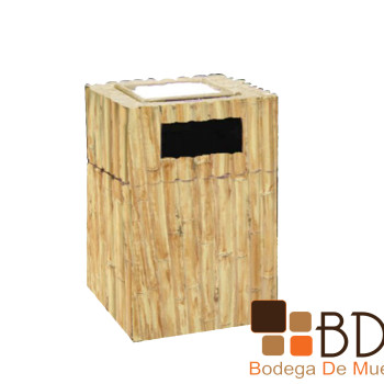 Basurero Tipo Bambú Arteaga mediano