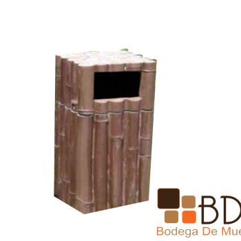 Basurero Tipo Bambú Arteaga