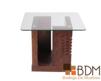 Mesa lateral con Cristal Kontempo LC-49