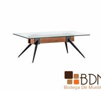 mesa para sala de estilo industrial