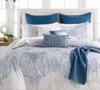 Edredón en tonos azules