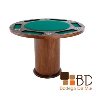 Mesa de Juego Redonda Poker 6