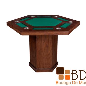 Mesa de póker para 6 Kontempo Hexagonal