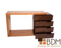 Consola de madera con cajones