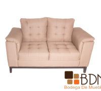Love seat moderno tapizado en tela