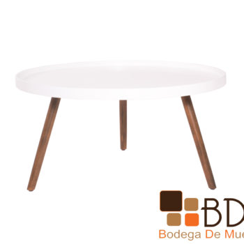 Mesa moderna central de madera