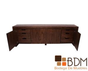 Bufetero de madera moderno con cajones