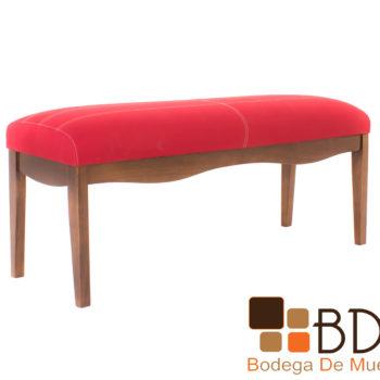 Banca moderna elegante de madera color rojo