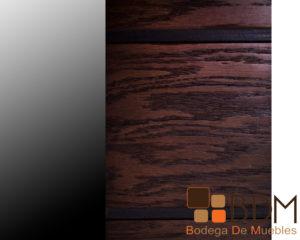 Luna de madera color chocolate para recamara