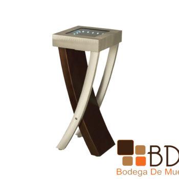 Mesa lateral contemporanea con luz led