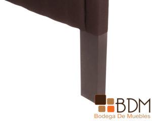 Respaldo capitoneado moderno de madera