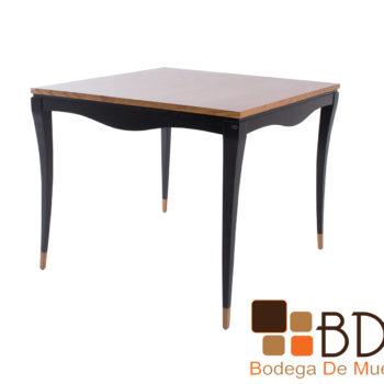 Mesa alta moderna color cafe de madera poplar