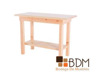Mesita de madera de pino estufado