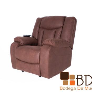Sillon reclinable en vinil color cafe