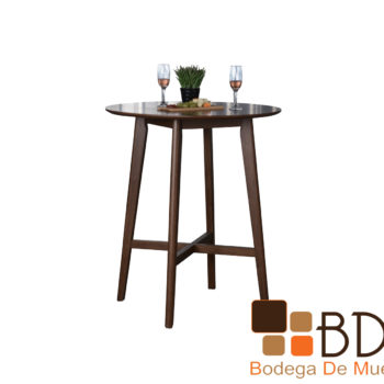 Mesa alta de madera para recepcion